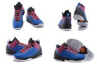 Wholesale High Quality Retro Melo XI M11 Game Royal Blue Metallic Silver Black Men Basketball Sport low Sneakers Shoes