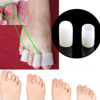 silicone foot products - Pairs Silicone Gel Toe protector Silicone Gel Tube Cushion Corns Calluses Pain Relief feet care Feet Care Product