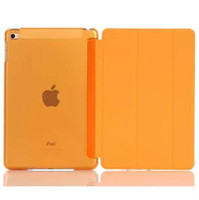 auto fonts - Font Smart Cover Back Plastic Case for iPad mini Air Stand Auto Sleep Wake Up Matte Cases Clear Color