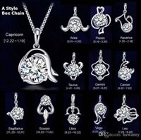 animal necklaces - Top Grade Silver Jewelry For Sale Silver Pendant Necklaces For WomenTwelve Constellations Pendants Necklaces WH