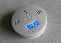 fire alarm - CO Carbon Monoxide Detector Smoke Home Alarm Safety Gas Fire Poisoning Warning Alarm Sensor Battery Operated Alert LCD Display DHL FREE New