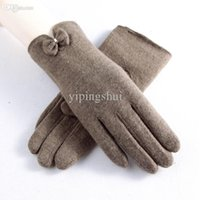 beauty driver - New listing Autumn winter Women wool gloves plus velvet thickening beauty hands fashion gloves driver cashmere