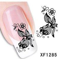 beauty bee - summer style beauty manicure black bee cartoon manicure nail art stickers water decals designer water transfer art