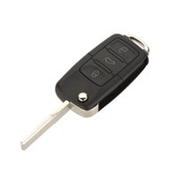beetle car cover - 3 Button Uncut Blade Remote Car Key Case Blade for VW Jetta Beetle Car Key Shell Fob Folding Flip Replacement Keyless Car Cover