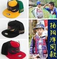 Wholesale 2016 New eras hats baseball batman Boys and girls peaked cap flat along the hat Hip hop Street dance hat ST41