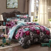 art comforters - Comforter Bedding Sets Piece Bed Sheet Set Cotton Bedding Set Flower of art Pattern