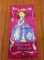 Wholesale 12pcs x60cm FROZEN towel sofia children cotton beach towels cartoon towels cheap A090b