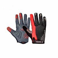 Wholesale Santic New Men s Outdoor Riding Cycling Gloves Bicycle Bike Motorcycle Full Finger Gloves C09013H