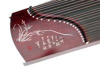 Wholesale China s national musical instrument Senior sandal wood phoebe mahogany cm long lettering zircons guzheng