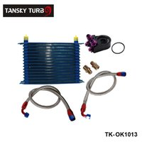 Wholesale 15 ROW AN AN UNIVERSAL ENGINE OIL COOLER KIT ALUMINUM HOSE END KIT TK OK1013 Have In Stock