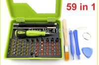 Wholesale 59 in Multi purpose Cross Precision Star Torx Flat Hex Screwdriver Set for iphone s ipad Notebook repair opening tools