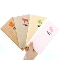 Nueva 48K blanco de la vendimia del estilo lindo animal Kraft del papel del cuaderno / suministros de la libreta / de nota / regalo agradable / oficina de la escuela / al por mayor