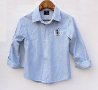 clothing factory - factory price england style children clothing cotton shirts for big boy long sleeve high quality white strip shirt