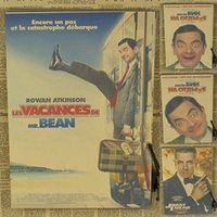 paper agent - The golden week bean bean agents Mr Bean Movie Poster funny retro kraft paper painting