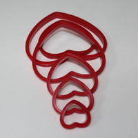 baking cutter shapes - DIY Heart Shape Biscuit Cookie Cutters Cake Decorating Baking Moulds Tools