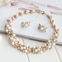 pearl - Women s New Design Imitation Pearl Pearl Necklace and Earring Sets SV008137
