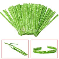 Wholesale Lovely Apple Green DIY Paper Twist Ties For Party Gift Cello Candy Bags