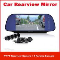 Wholesale Car Reversing Set Rearview Camera Parking Sensors Rearview Mirror Drop shiping Xmas