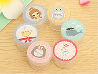Wholesale Loverly Cartoon Cream jar cute portable transparent cartoons plastic cosmetic containers cream jars cosmetic packaging cream box