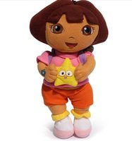 Wholesale New Dora the Explorer with Star Extra Large Plush Doll dora explorer baby Toy New inch cm
