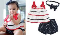 Cheap 2015 new baby summer clothing (headband + Multilayer cake bow sling + pentagram shorts) baby (3pcs set )suit clothing