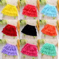 Wholesale 2016 Girls tutu dress summer fashion wear skits mix color ball gown gauze lace dress for age years A