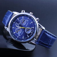 Wholesale HOT new fashion watches Exquisite Women s Round Multi Subdial Deco Dial Roman Numerals Faux Leather Analog Quartz Wrist Watch