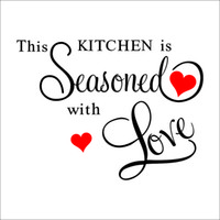 Wholesale THIS KITCHEN IS SEASONED WITH LOVE Wall Quote Sticker Home KITCHEN Decor