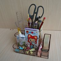 Wholesale Fashion Multi Functional Desk Organizer Creative Novelty Pen Holders Stationery Organizer Stationey Holders for Office School Supplies