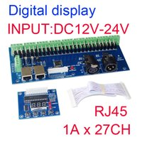 best dmx - 2016 New Version best price hight power DC12V V DMX CH RJ45 led dimmer A CH decoder led RGB controller