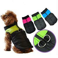 Wholesale Dog Clothes Winter Small Medium Dog Winter Vest Coat harness Jacket Roupas Para Cachorro