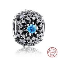 Wholesale Authentic Pandora Bracelet Charms Sterling Silver Blue Cz Cinderella Desire Stone Beads Statement Diy Jewelry Valentine s Day G
