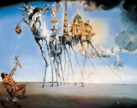 anthony oil - famous Salvador dali Paintings THE TEMPTATION OF ST ANTHONY High quality Canvas art for bedroom Hand painted