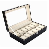 Wholesale Leather Watch Cases Jewelry Display Storage Organizer Watch Box Holder Caixa De Relogios For Storing Hours Jewelry YT0250