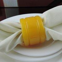 achat en gros de ronds de serviette jaune-100pcs / lot serviettes de serviette jaune Party / Wedding Party accessoires de décoration Livraison gratuite R399