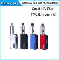 apex stock - Innokin Coolfire IV Plus W iSub Apex Starter Kit W IV Plus Battery with ML iSub APEX Sub Ohm Tank iSub A Kit Original in stock