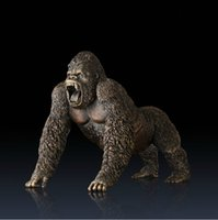 ape collection - Hot sell Special grade A fine brass copper apes Hand made Heat Coloring Artwork Craft High Grade Collection Company Home Decoration Gift