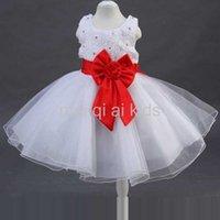 baby girl wedding dress - New Hot Sales Popular Christmas Baby Girls Kids Flower Party Wedding Prom Fancy Dress