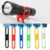Wholesale Cycling Bike Bicycle Silicone Elastic Strap Bandage Flashlight Mount Holder B015
