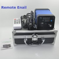 Wholesale Remote Enail Dnail New D Nail E Nail D Nail Enail WAX Vaporizer Dry Dried Herbal PID Temperature Contral Box E Cigarettes Vaporizer DHL