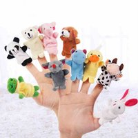 Wholesale Baby Plush Toy Finger Puppets Talking Props animal group plush toy Dolls Gifts