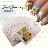 accessories postage - Postage Stamp Watermark Transfers D Nail Stickers Decals Foil Nail Art Decorations Tools Accessories