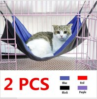 Wholesale 2 Cat Hammock Ferret Bed Sleeping Bag Oxford Rat Summer Winter Waterproof Soft Small Animal Pet Products Rest House Mat S L