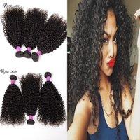 Cheap Brazilian Malaysian Virgin Hair 3,4Pcs Lot Cheap Peruivan Kinky Curl Hair Weaves Hot sale Human VIrgin Hair Extensions Double Weft