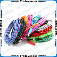 extension cord - 3M FT Extra Long Extension USB Fiber Braided Charger Cable Sync Data Fabric Knit Nylon Chargring Cord Wire Lead For Cellphone Smartphone