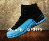 Envío libre al por mayor de 2014 llegará para hombre Aire 12 Gamma zapatillas de baloncesto azul, barato retro 12 XII 12 zapatos atléticos