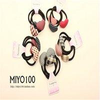 Cheap Korean Style hair bands 3 in 1 star button heart butterfly shape hair ring girls headwear supply