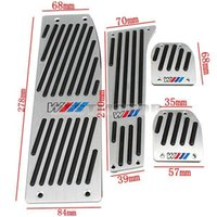 Wholesale POLISHED ALUMINUM M PEDAL PAD SET FOOTREST FOR BMW X1 E30 E36 E46 E87 E93 small order no tracking