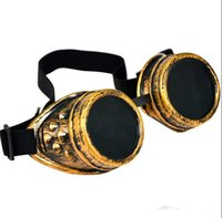 Wholesale Goggles Glasses Retro CIRCLE Sunglasses Vintage Steampunk for Men Women Sport Driving Traveling Victorian Cyber Punk Gothic Sunglasses DHL
