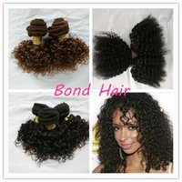 Wholesale 70 Off Promotion inches Short Kinky Curly Human Hair Weave g per bundle colors for your choice